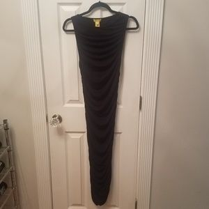 Catherine Malandrino black ruched bodycon dress